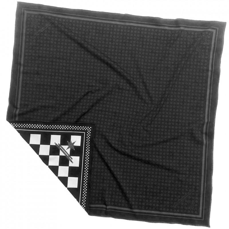 foulard sunday speedshop damier ace noir blanc foulard vintage. Black Bedroom Furniture Sets. Home Design Ideas