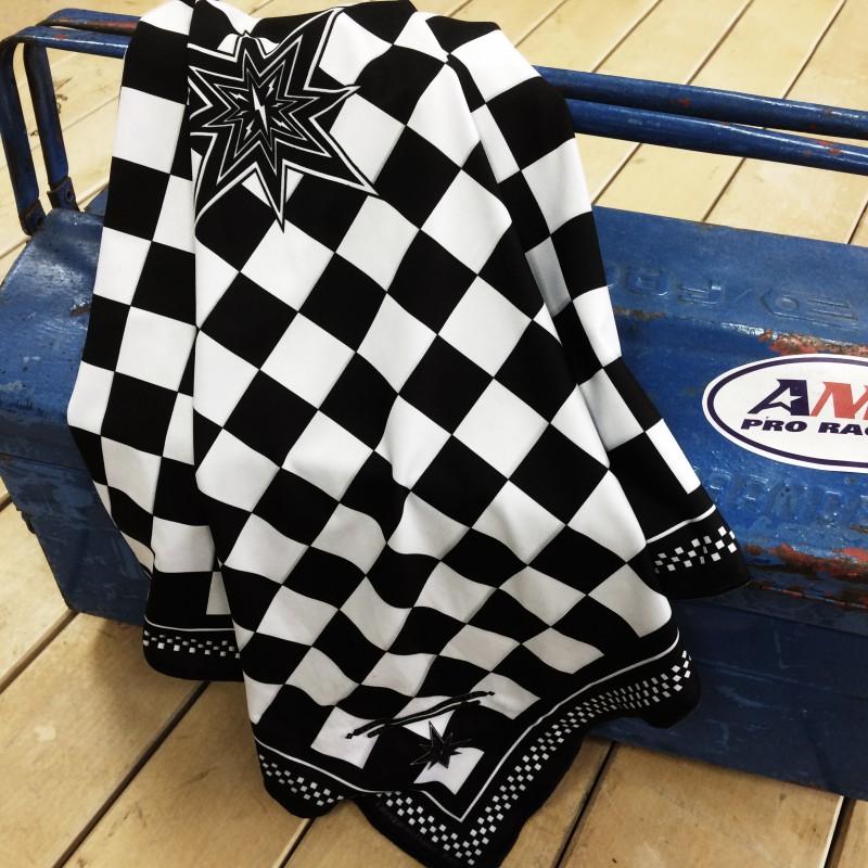 foulard sunday speedshop damier ace noir blanc foulard. Black Bedroom Furniture Sets. Home Design Ideas