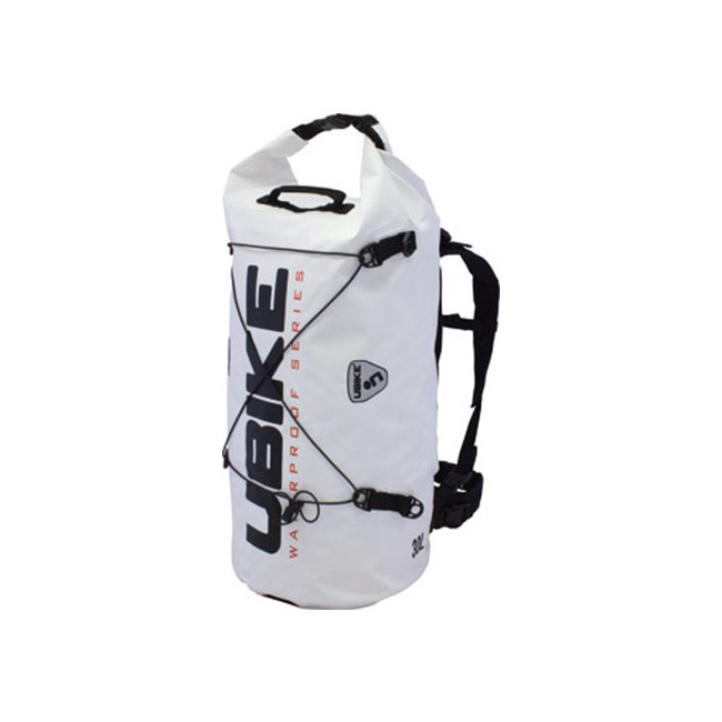 WATERPROOF BAG WHITE CYLINDER BAG 30L UBIKE