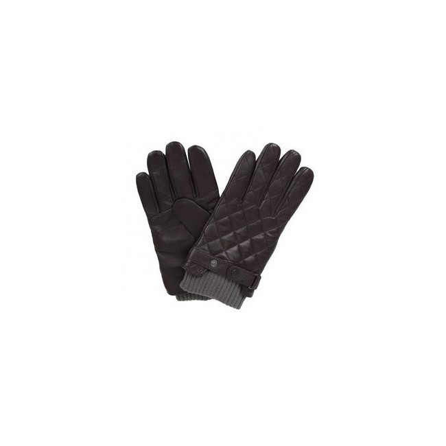 GANTS BARBOUR QUILTED LEATHER Marron