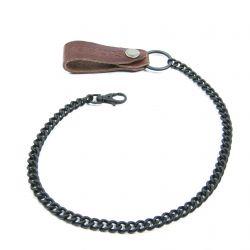Helstons - Couro - corrente de metal e atribui carteira de couro