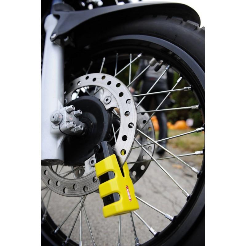 antivol moto bloque disque abus 77 granit sledg grip yellow. Black Bedroom Furniture Sets. Home Design Ideas