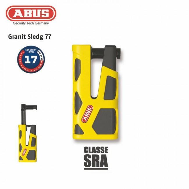 Antivol Bloque-disque ABUS 77 Granit Sledg web yellow