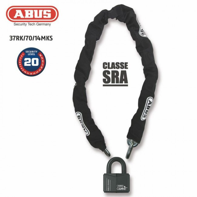 cadena antirrobo U + ABUS 37RK / 70 + 14MKS120