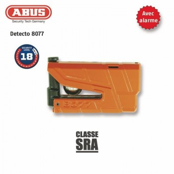 Antivol Bloque-disque ABUS 8077 Granit Detecto X-Plus orange