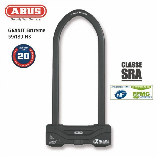 Antitheft U ABUS 59 / 180HB245 SRA / NF