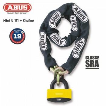 Antivol U + chaine ABUS 111 + 12KS/80 loop