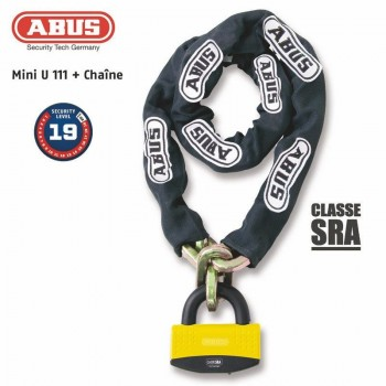 Antitheft U + chain ABUS 111 + 12KS / 80 loop