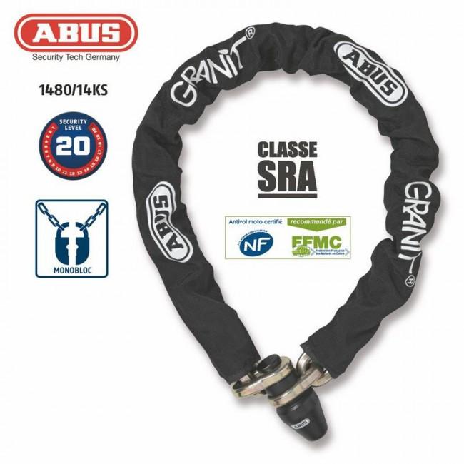Antivol Chaine ABUS 1480/120 MONOBLOC