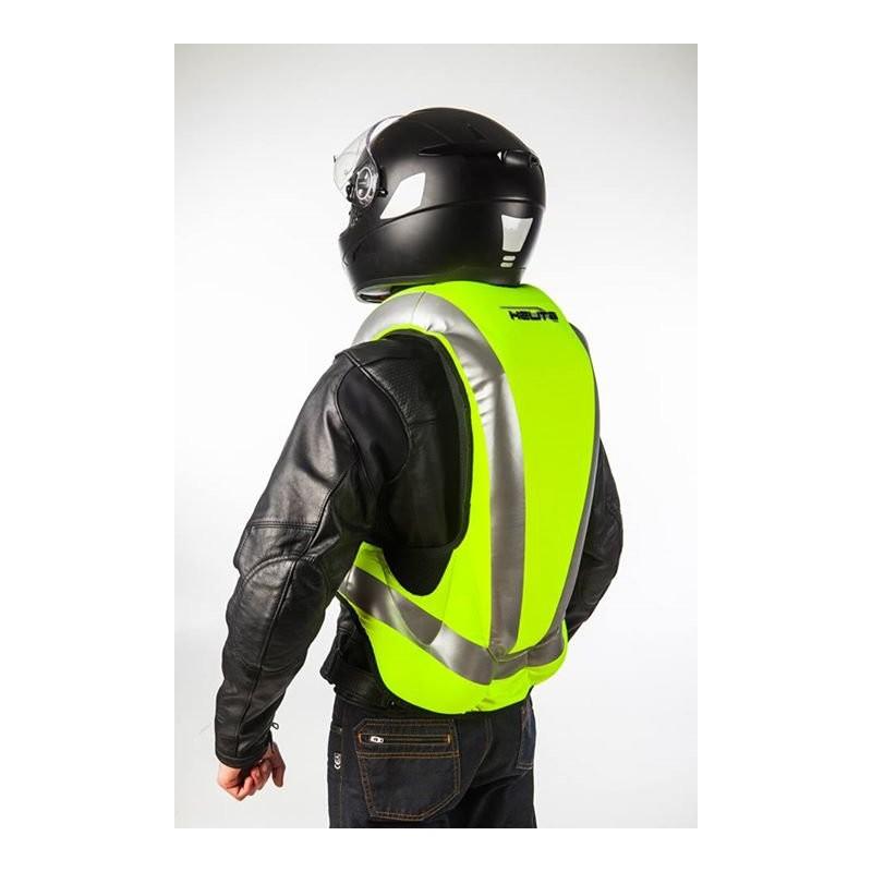 gilet airbag moto helite airnest turtle fluo high visibility. Black Bedroom Furniture Sets. Home Design Ideas
