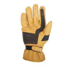 Gants hiver HELSTONS MICHI Cuir Soft Gold-Marron