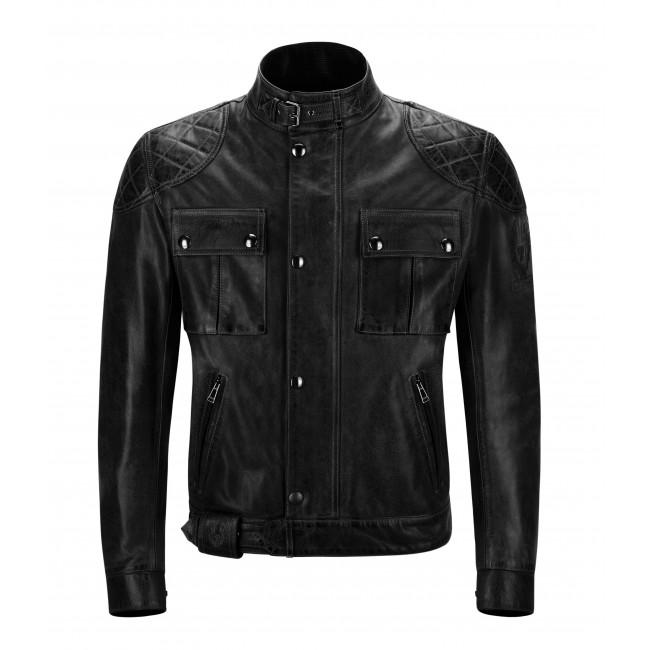 Jacket BELSTAFF LEATHER black ANTIQUE BROOKLANDS