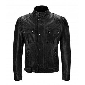 Giacca BELSTAFF PELLE nero ANTIQUE BROOKLANDS