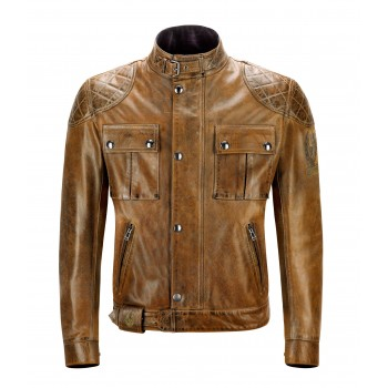 Jacket BELSTAFF BURNT CUERO LEATHER BROOKLANDS