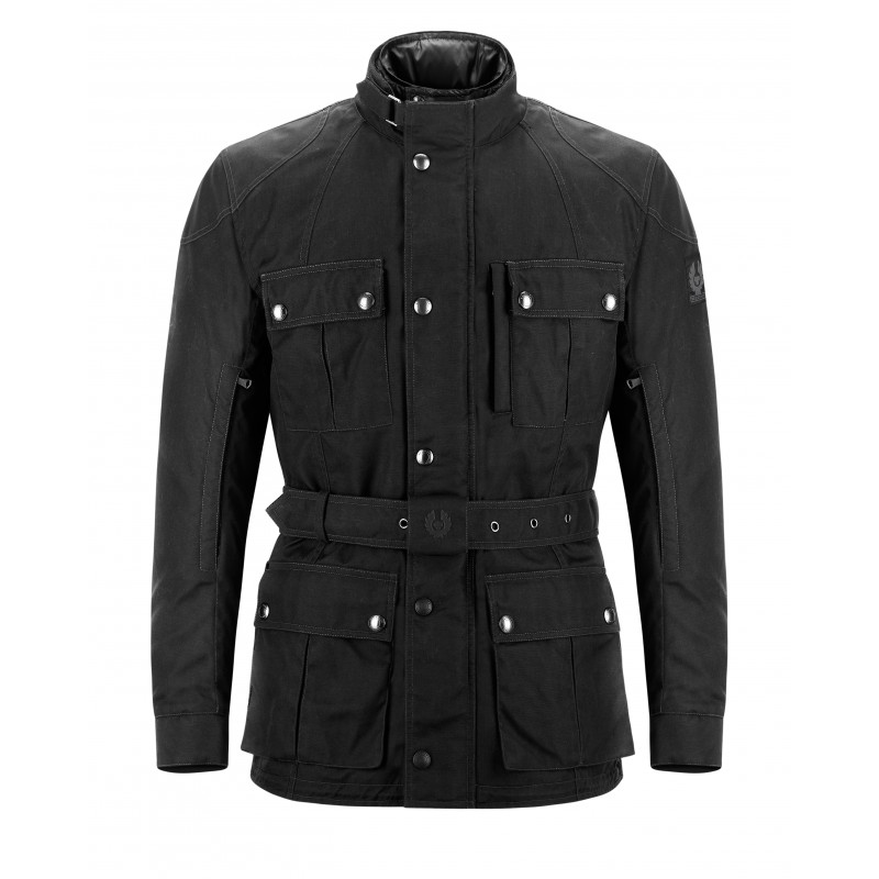 veste moto belstaff new snaefell wax cordura noir. Black Bedroom Furniture Sets. Home Design Ideas
