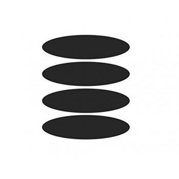 schwarz reflektierende Aufkleber x4