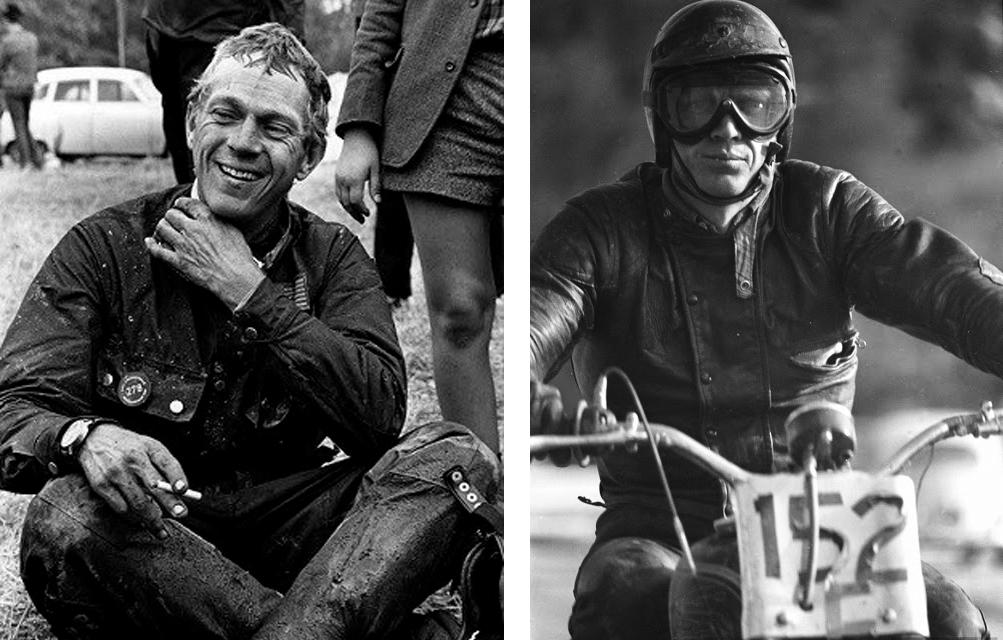 Steeve Mcqueen coton ciré et course de moto