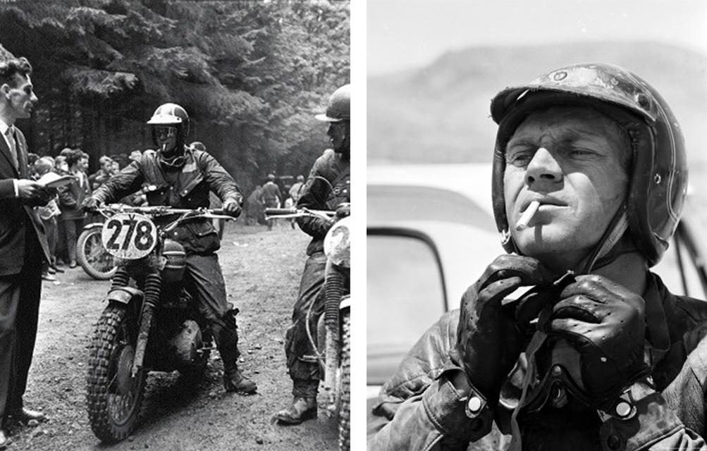 course moto steeve mcqueen