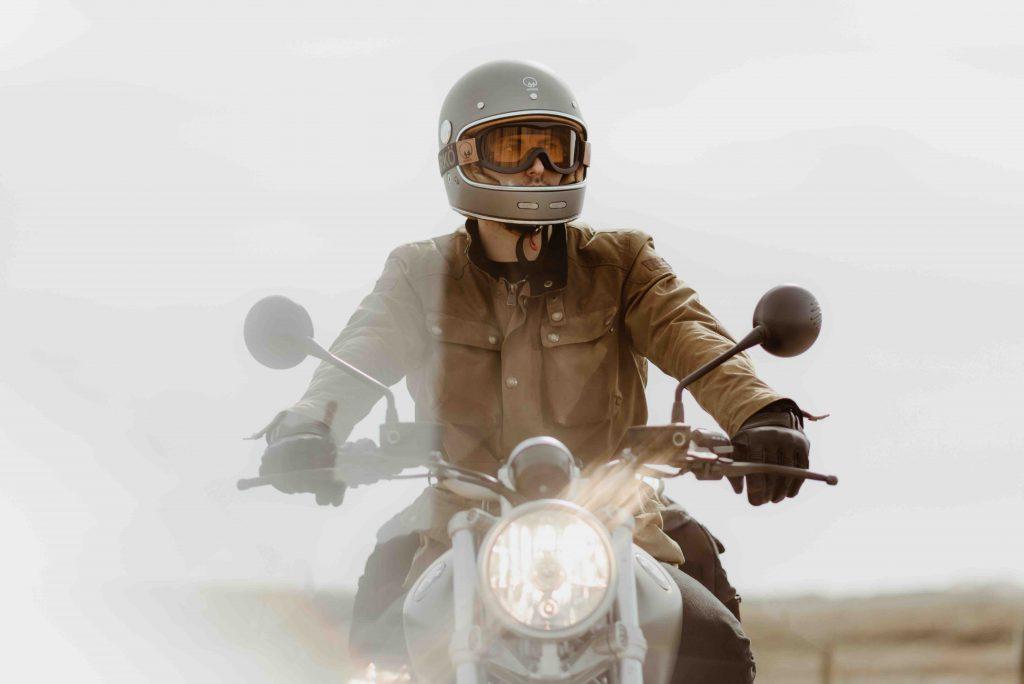 casque moto vintage Marko Fullmoon