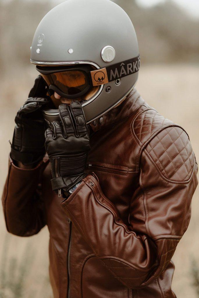 casque moto Marko, blouson moto cuir Original Driver