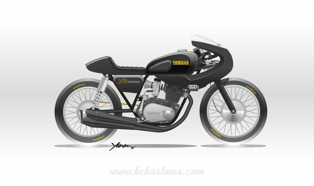 yamaha xs500 transformé en café racer