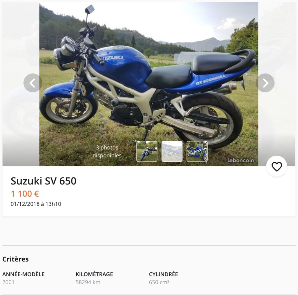 SUZUKI SV-650 annonce leboncoin