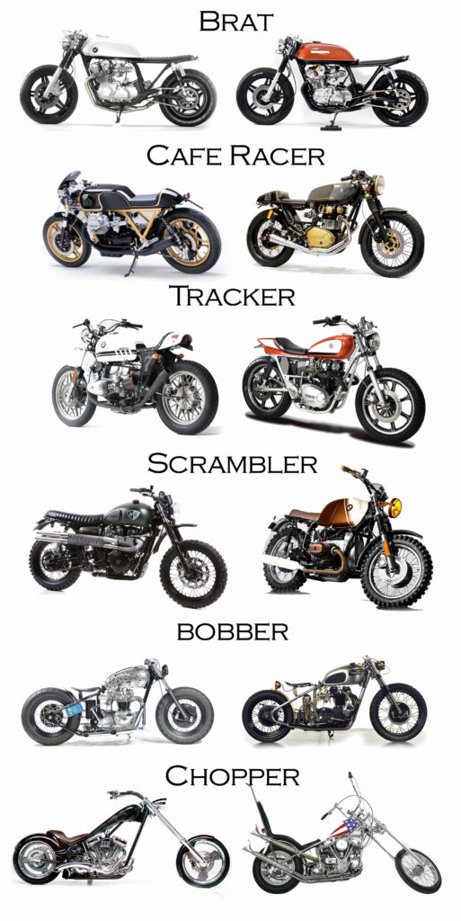 les différents types de moto vintage customs
