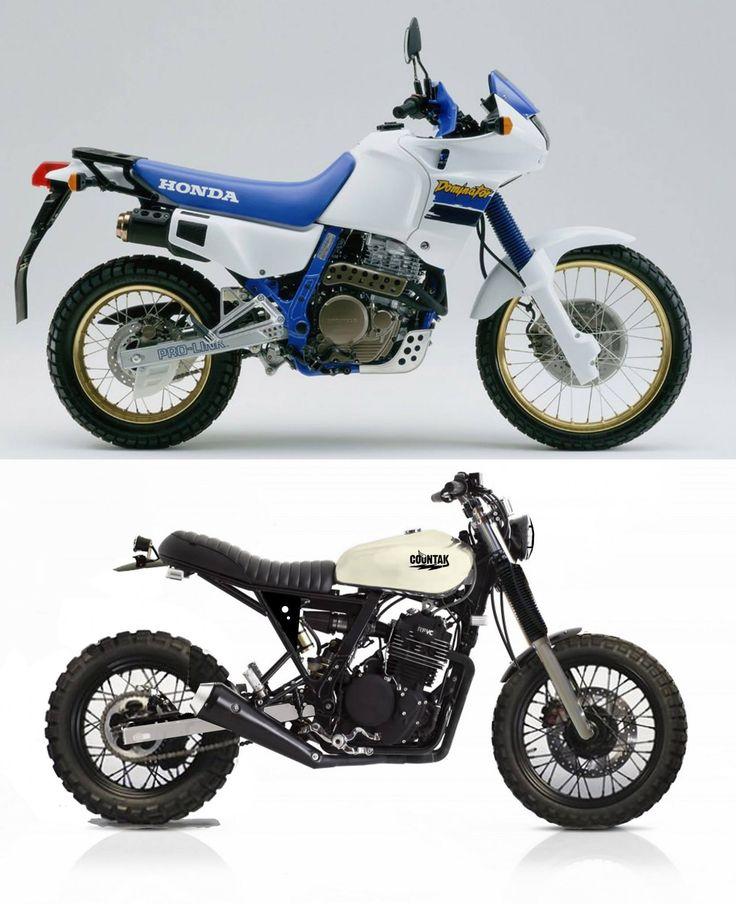 base moto transformé en scrambler