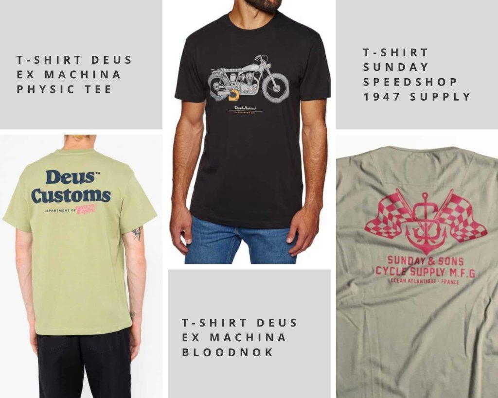 t-shirt moto pour été
