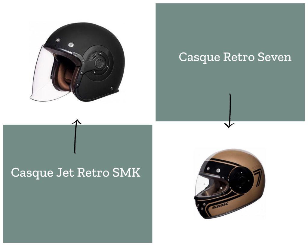 casque moto jet et intégral SMK